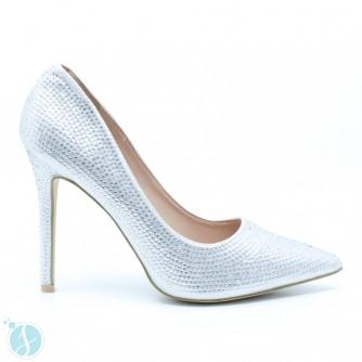 Pantofi Dama Agnes Argintii