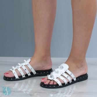 Papuci dama Amora Albi