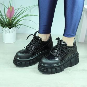 Pantofi dama Ema Negru Lac
