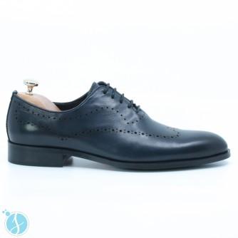 Pantofi Barbati Eleganti Frank Albastri
