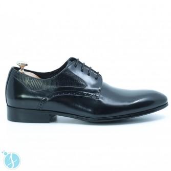 Pantofi Barbati Eleganti Tudor Negrii