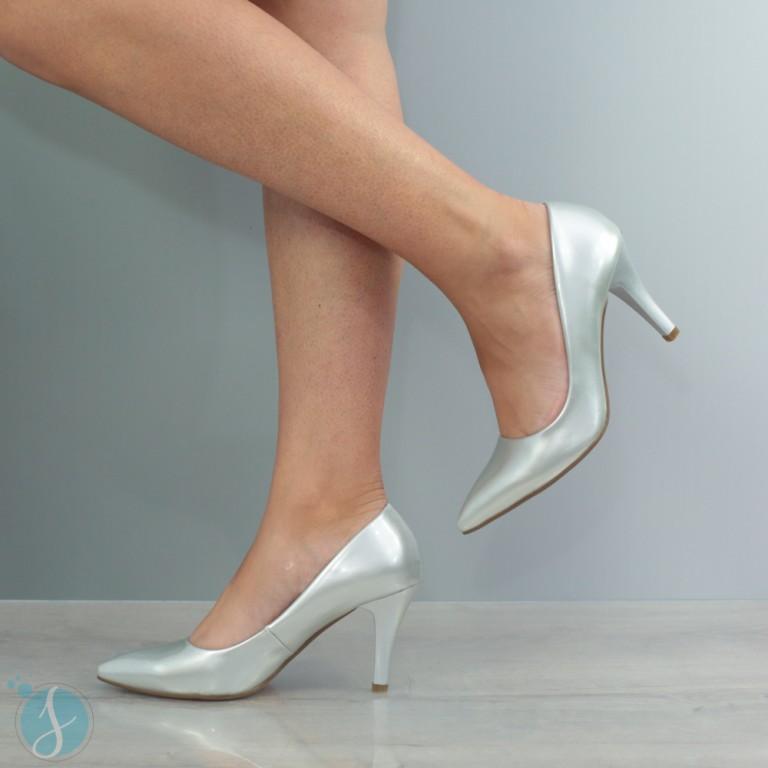Pantofi Dama Amy Argintii
