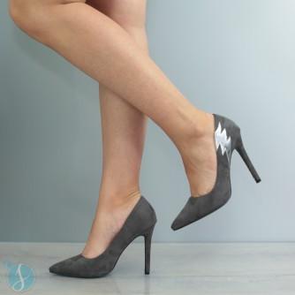 Pantofi Dama Cecilia Gri
