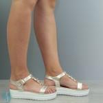 Sandale Dama Alicia Aurii