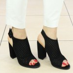 Sandale Dama cu Toc Ryli Negre